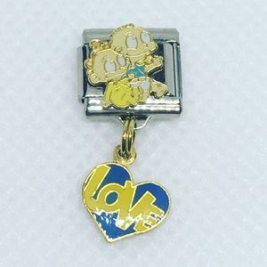 Vintage Rugrats Tommy Dil Love Italian Charm Link